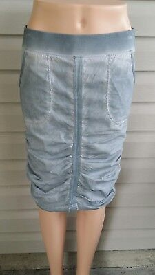 XCVI Ruched CHARA Skirt GRAY Stretchy NWT$94