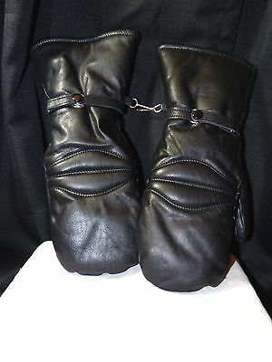 SALE ! 1980s Olympia Sport Leather Motorcycle Riding Gloves Sz. M  Black