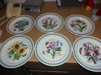 BNWT  Portmeirion Botanic Garden 6 dinner plates  assorted