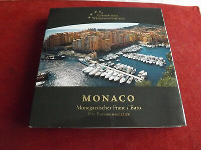 * Monaco 2 x KMS *5Cent-10 Franc und Euro KMS 10 Cent-2 € in Blister