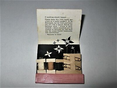 Vintage Matchbook with Sewing Items Imperial Hotel Copenhagen Rare Circa 1961