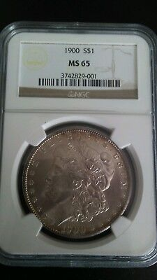 1900p Morgan dollar NGC MS 65 AWESOME color!!!