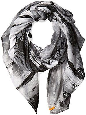 NWTs Lucy Activewear Destination Everywhere Light Weight Scarf Aurora Gray Print