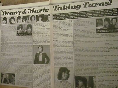 Donny and Marie Osmond, Two Page Vintage Clipping, Osmonds Brothers