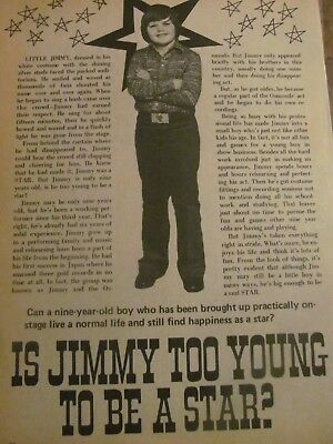 Jimmy Osmond, Full Page Vintage Clipping, Osmonds Brothers