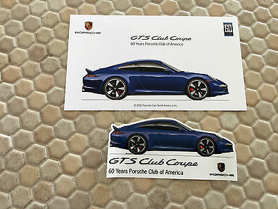 Porsche 911 991 Gts Club Coupe Limited Edition Sales Card Sticker Brochure 2015