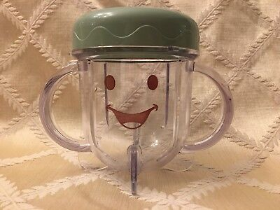 Baby Bullet Baby Food Processor Replacement Parts Short Cup Handles w/ Lid (1)