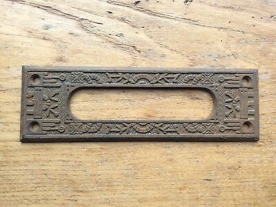 Antique Victorian Eastlake Letter Mail Door Slot Architectural Salvage FREE SHIP