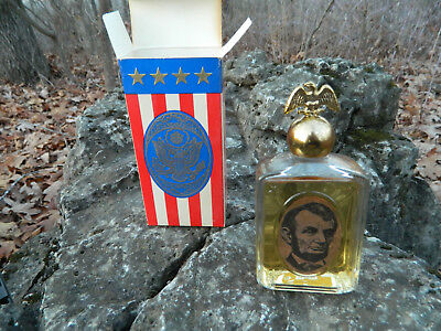 Vintage 1970's Avon Abraham Lincoln Wild Country After Shave Decanter NOS NIB