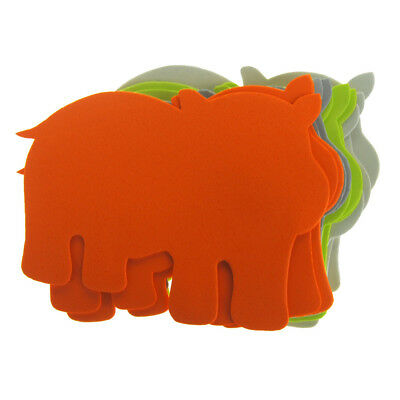 Hippo Foam Shapes, Assorted Color, 6-Inch, 12-Piece