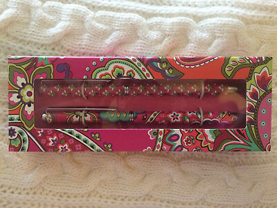 "Vera Bradley ""Perfect Match"" Pen and Pencil set in PINK SWIRLS  NEW in Box"