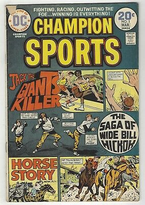 Champion Sports 3! Gd+ 2.5! Great Bronze Age Dc Comic Book!