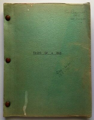 THIRD OF A MAN Movie Script 1961 Heavily Annotated Working Copy Cinematographer