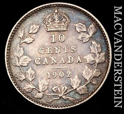 Canada: 1902 Ten Cents - Silver!!  Better Date!!  No Reserve!!  #x7438