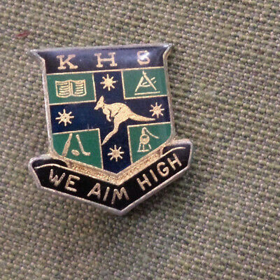 #d109. Kotara High   School   Lapel  Badge, Broken Clip