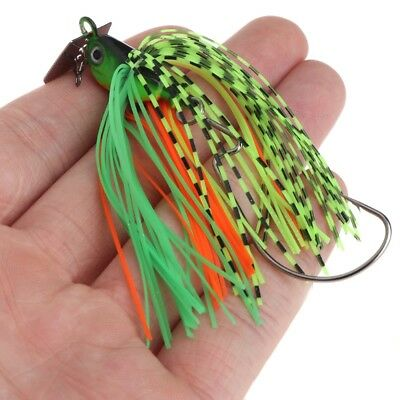 Artificial Fishing Lure Bait Finness Chatter Spinner Spoon Fish Jigs Head Hook