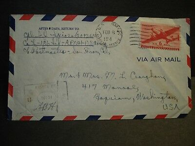 APO 41 ROCKHAMPTON, AUSTRALIA Censored WWII Army Cover 186th INFANTRY
