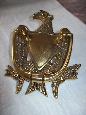 Vintage Solid Brass American Eagle Door Knocker  = Spain