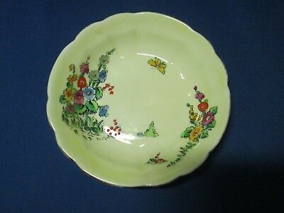 Crown Staffordshire Hollyhocks bowl Made in England