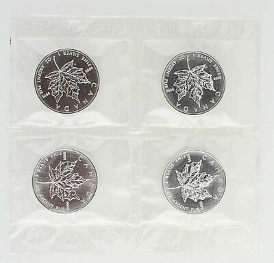 1999 $5 Canada Silver Maple Leaf Coin - 1 OZ 9999 Fine Silver Lot 4 Elizabeth II