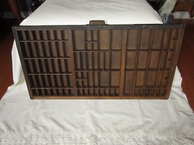 """Vintage Hamilton Mfg Co Wood Drawer 32 1/8"""" X 16 1/2"""" X 1 1/2"""" W/89 Partitioned"""