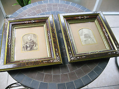 """2 Antique Victorian Eastlake Shadow Box Ornate Picture Frames 13 1/2"""" X 15 1/2"""""""