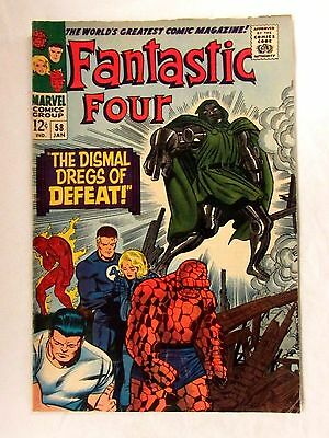 Marvel Fantastic Four #58 (1967) Dr. Doom Cover VG/F to F Silver Age Comic FL256