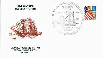 Dr Jim Stamps Us Cover Bicentennial Uss Constitution Old Ironsides Station 1997