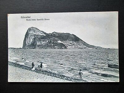 ROCK FROM SPANISH SHORE, GIBRALTAR - PUBLISHED BY V. B. CUMBO (1910s)