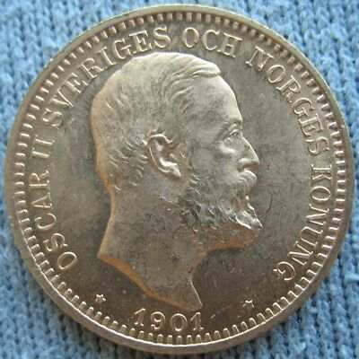 1901 EB Sweden Gold 20 Kronor