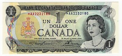 1973 Bank Of Canada One 1 Dollar Replacement Bank Note *aa 2232180 Nice Bill