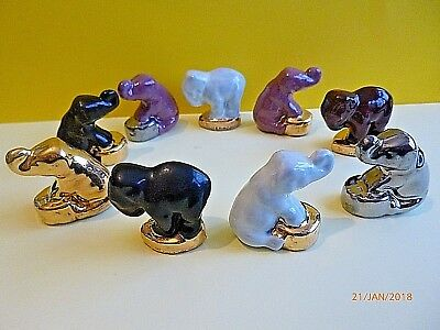 Wade Whimsie Limited Edition Elephants Circus Sitting and Standing Whimsies