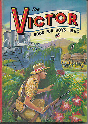 Vintage childrens annual The Victor Book for Boys 1966 vgc illustrated