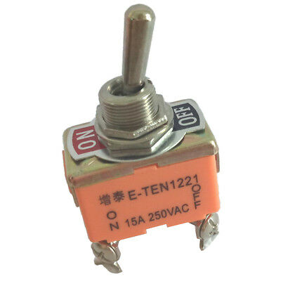 AC 250V 15A ON/OFF 2 Position 4 Pin Panel Mount Toggle Switch