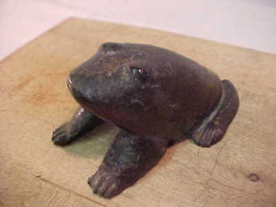 Early Antique Cast Iron Frog 3Lbs