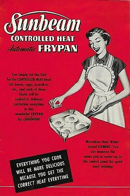 Sunbeam Electric Frying Pan Promo Booklet 1953