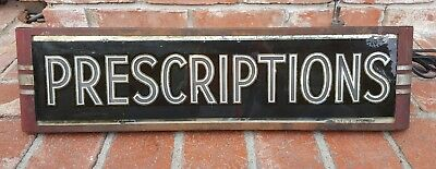 Antique Pharmacy Advertising Art Deco Prescriptions Light Sign,neon Products