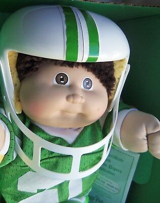 1985 COLECO Cabbage Patch Kid CHANDLER MARCEL, in Bad Box, Football Uniform