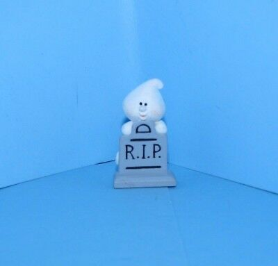 Hallmark Merry Miniature Halloween 1993 Ghost at Tombstone