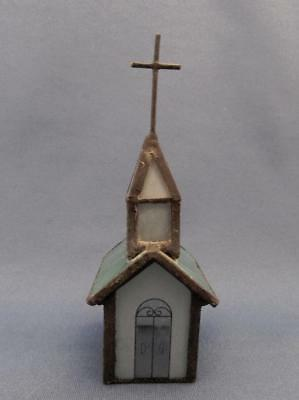 Hand Crafted Stained Glass Church Ornament / Figurine