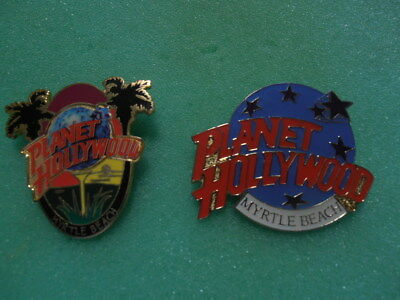 RARE Planet Hollywood MYRTLE BEACH Palm Trees and Stars  Logo Pin