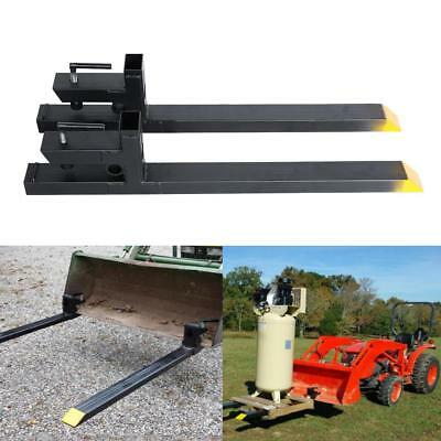 30'' LW Clamp on Pallet Forks Loaders Bucket Skidsteer Tractor 3000lbs Capacity
