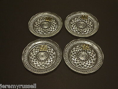 4 Wexford Anchor Hocking 6 inch Dessert Plates in Mint Condition with Labels