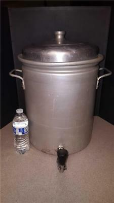 7 1/2 7.5 Gal COMMERCIAL METAL SPINNING CO Aluminum Cookware COFFEE URN w Spigot