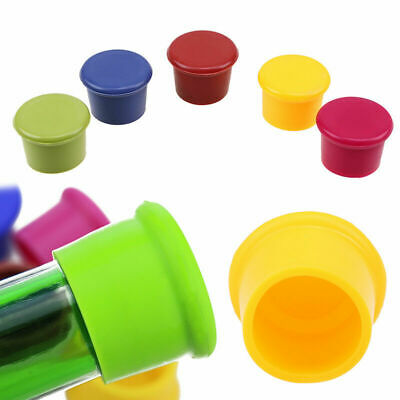 6Pcs Silicone Wine Beer Top Bottle Cap Lid Cover Stopper Drink Savers Sealer