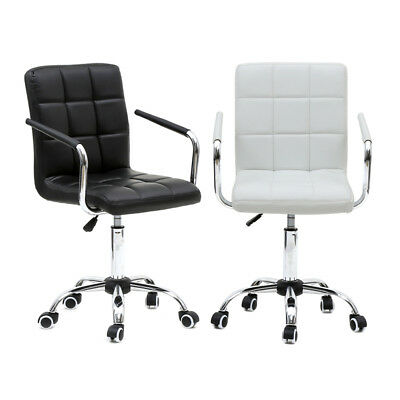 Executive PU Leather Office Mid-back Ergonomic Computer Desk Seat Swivel Chair