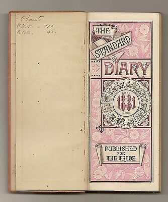 09 The 1881 Diary Of John H Kimball 1011 High St & 1014 Middle St Bath Maine
