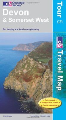 Devon and Somerset West (OS Travel Serie... by Ordnance Survey Sheet map, folded