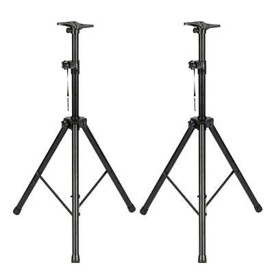 Pair Adjustable Heigh Tripod DJ PA Speaker Stands for Monitor with Nylon Bag