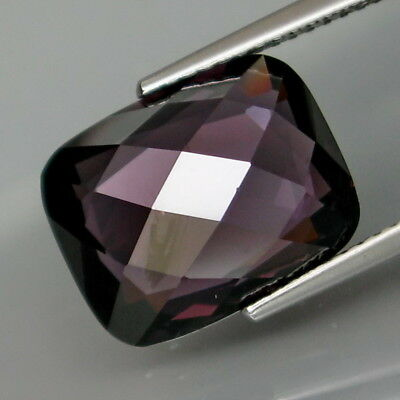 7.54Ct.BIG! Purple Spinel MaeSai Cushion Facet&Checkerboard 2 Faces in One Piece